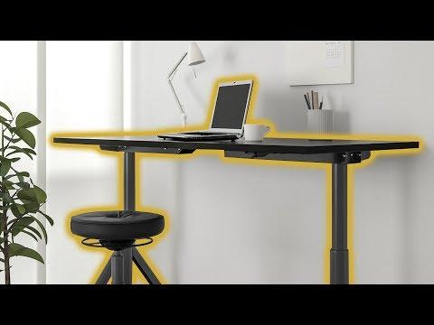 Ikea Idåsen 63 Sitstand Desk Setup Overview Youtube