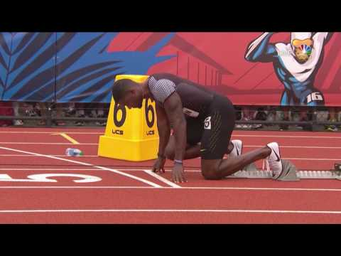 Thumbnail: Olympic Track And Field Trials | Ameer Webb Beats Justin Gatlin In 200m Heat