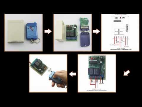 Kit metteur r cepteur radio 2 relais 9v 12v 24v 315 433mhz 2 canaux 4 modes pour porte de - Emetteur recepteur porte de garage ...
