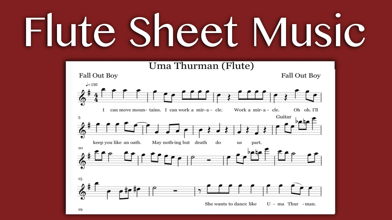 Uma Thurman - Fall Out Boy (Flute Sheet Music) - YouTube Uma Thurman Fall Out Boy