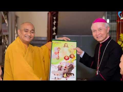 BCMT - Đức Cha Giuse Thăm Chùa Long Hương Và Chùa Pháp Thường