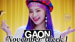 [TOP 100] Gaon Kpop Chart 2018 [November Week 1]