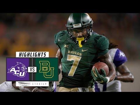 Abilene Christian vs Baylor Football Highlights (2018)   Stadium