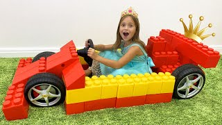 Sofia is going to the ball & Rides on a Princess Carriage of Toy Blocks