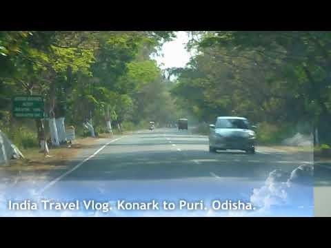 Konark to puri marine drive road trip India travel vlog by car