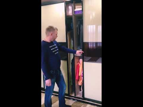 Шкаф-купе в спальню, 4 двери в пленке Оракал, Москва, ул. Красного Маяка