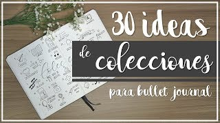 30 Ideas de colecciones para bullet journal