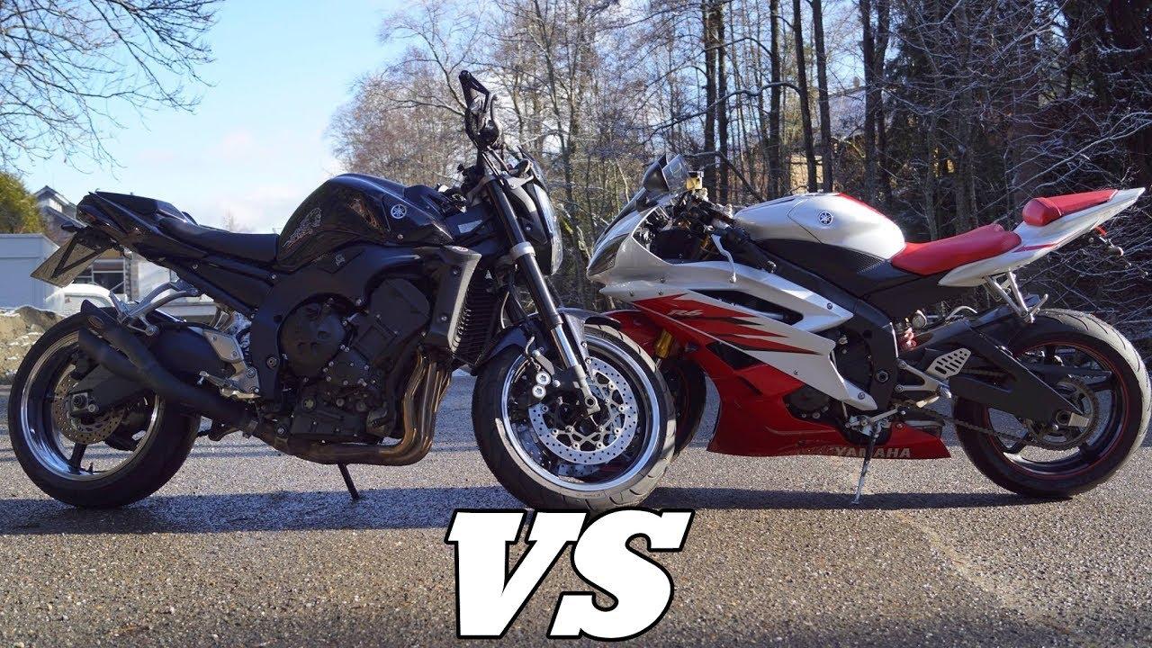 Yamaha R6 VS FZ 1 RN16