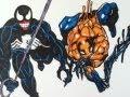 Drawing Venom vs Toxin, Marvel comics