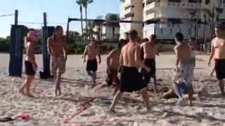 Plaj Voleybolunda Karışık Kavga