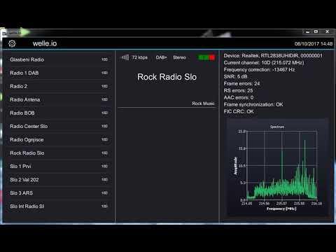 DAB+ Slovenia 10D MUX R1 received weak signal (RTL-SDR , RTL2832U)