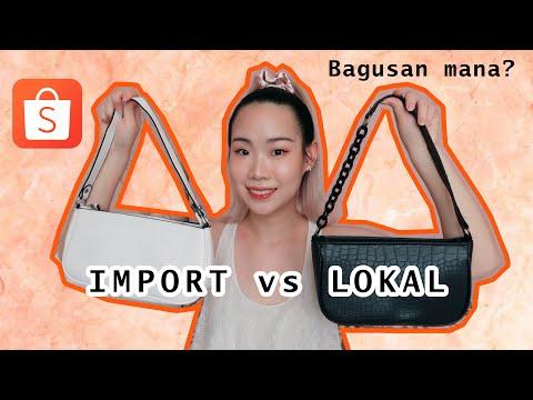 [Eng Sub] SHOPEE HAUL + REVIEW || NGEBANDINGIN TAS VINTAGE IMPORT vs LOKAL
