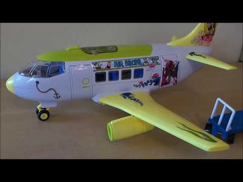 SpongeBob SquarePants Toy Unboxing Of Vacation Boeing 737 Jet Airplane By MGTracey