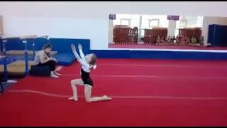 Спортивная гимнастика .Вольные 1 юношеский разряд Катя Полякова