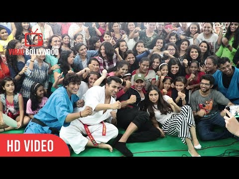 Akshay Kumar, Aditya Thackeray and Bhumi Pednekar at Women Self Defence