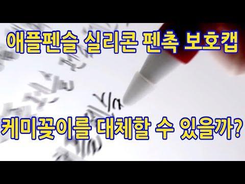 애플펜슬 필기감 향상 꿀팁 v.2 - 실리콘 펜촉 보호 캡 - 케미꽂이 목공풀 이제 끝?