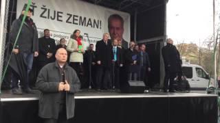 Projev Miloše Zemana na Albertově 17.11.2015