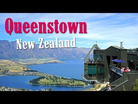 Queenstown. Hiking in the beautiful mountains. New Zealand