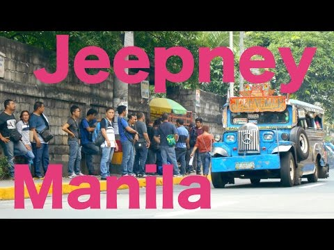 【Full HD】The View Manila from the Jeepney in Philippines R¡i¡