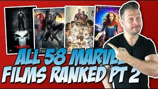 All 58 Marvel Movies Ranked Part 2 (40 to 21)