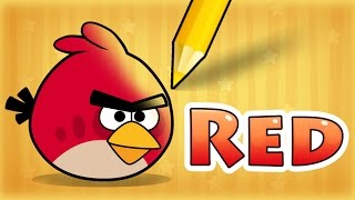 How To Draw Red From Angry Birds - Step by Step!