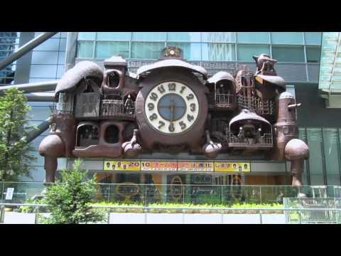 Nittere Ohdokei Clock - Miyazaki's clock in Shimbashi, Tokyo