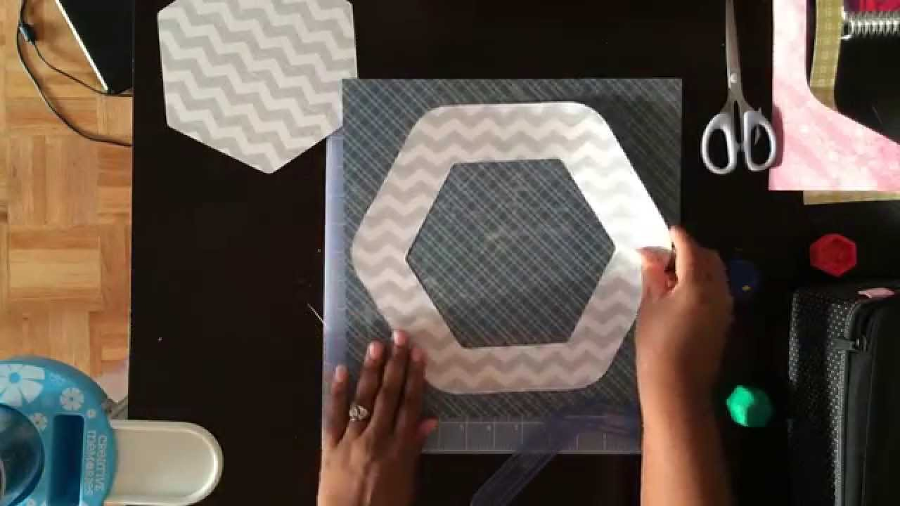 Creative Memories Hexagon Custom Cutting System Review Youtube