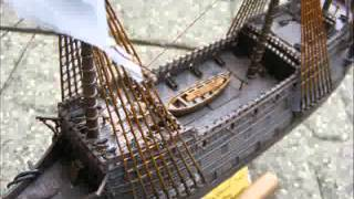 Pirate galleon ship model