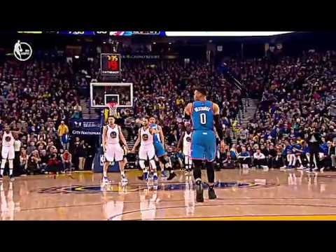 Russell Westbrook FORGETS TO DRIBBLE vs warriors! shaqtin a fool travels 1.18.17