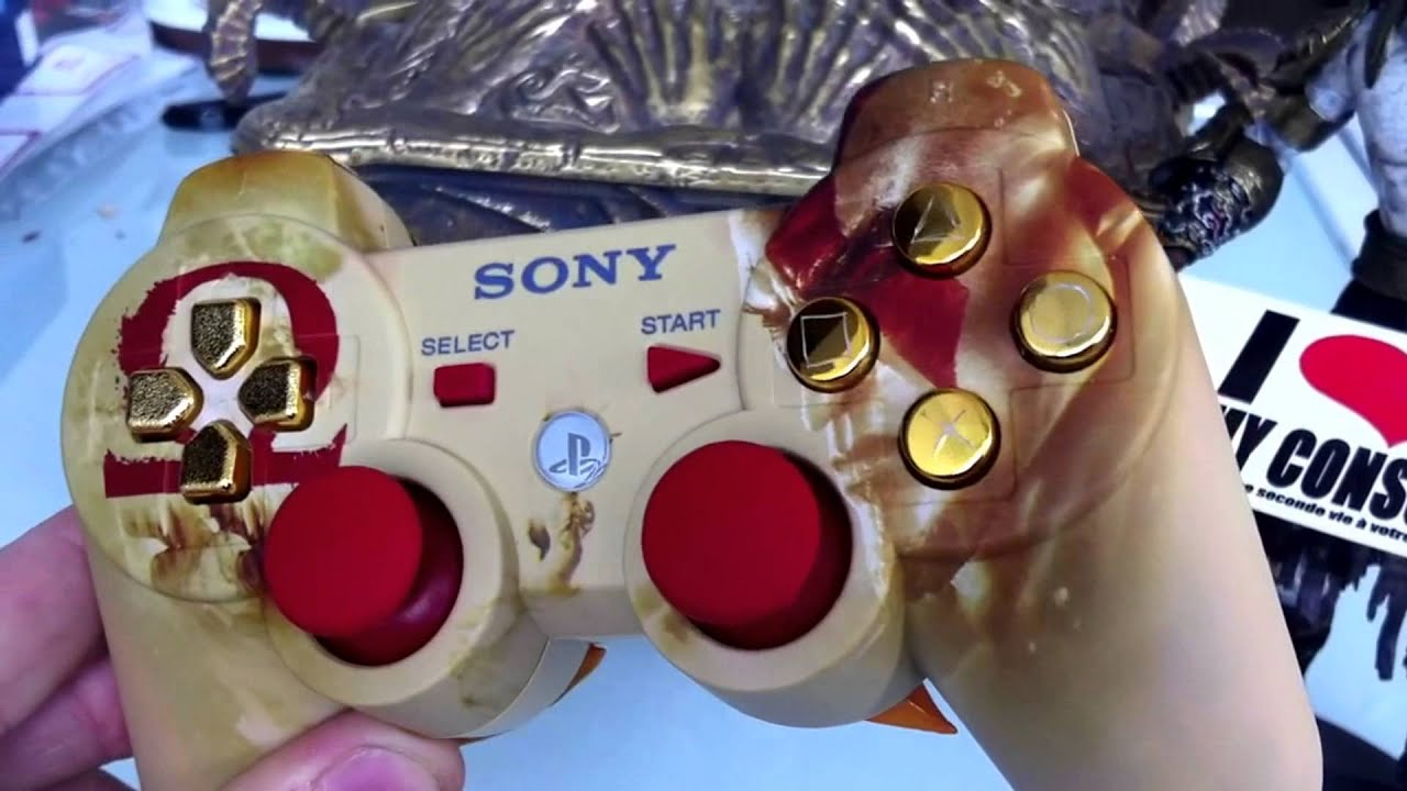 Manette PS3 God of War custom by i love my console - YouTube