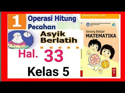 Kunci jawaban asyik berlatih hal.33 || Matematika kelas 5 ...