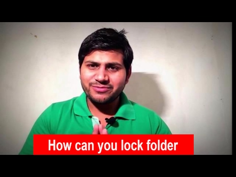 How can you lock your PC or Laptop folder without software