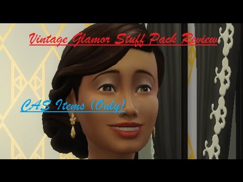 The Sims 4: Vintage Glamor Stuff Pack// CAS Review