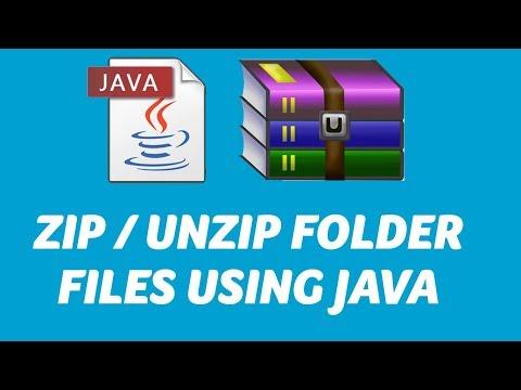 JAVA -  ZIP / UnZip files or folder