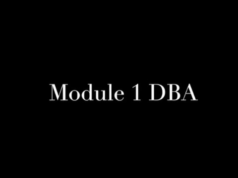 Module 1 DBA - YouTube