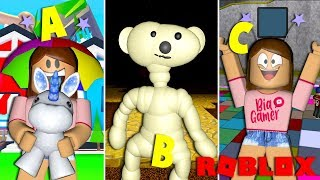 PLAYING GAMES ALPHABETICALLY IN ROBLOX! #1 I BiaGamer
