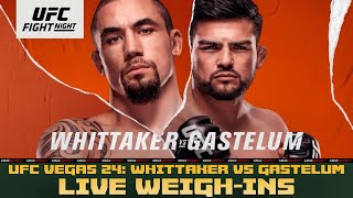 UFC on ESPN Weigh-Ins: Whittaker vs. Gastelum