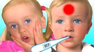 Canción Enferma | Canción Infantil | Canciones Infantiles con Katya y Dima #2