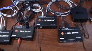 J-Tech Digital H.264 HDMI Extender Multiple Transmitter to Multiple Receivers Demo