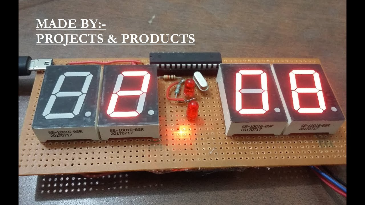 How to make Step by Step Digital Clock Using a single Ic ATmega328