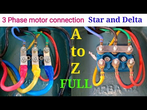 How to proper connection 3 phase motor ।। 3 phase motor connection ।। 2018