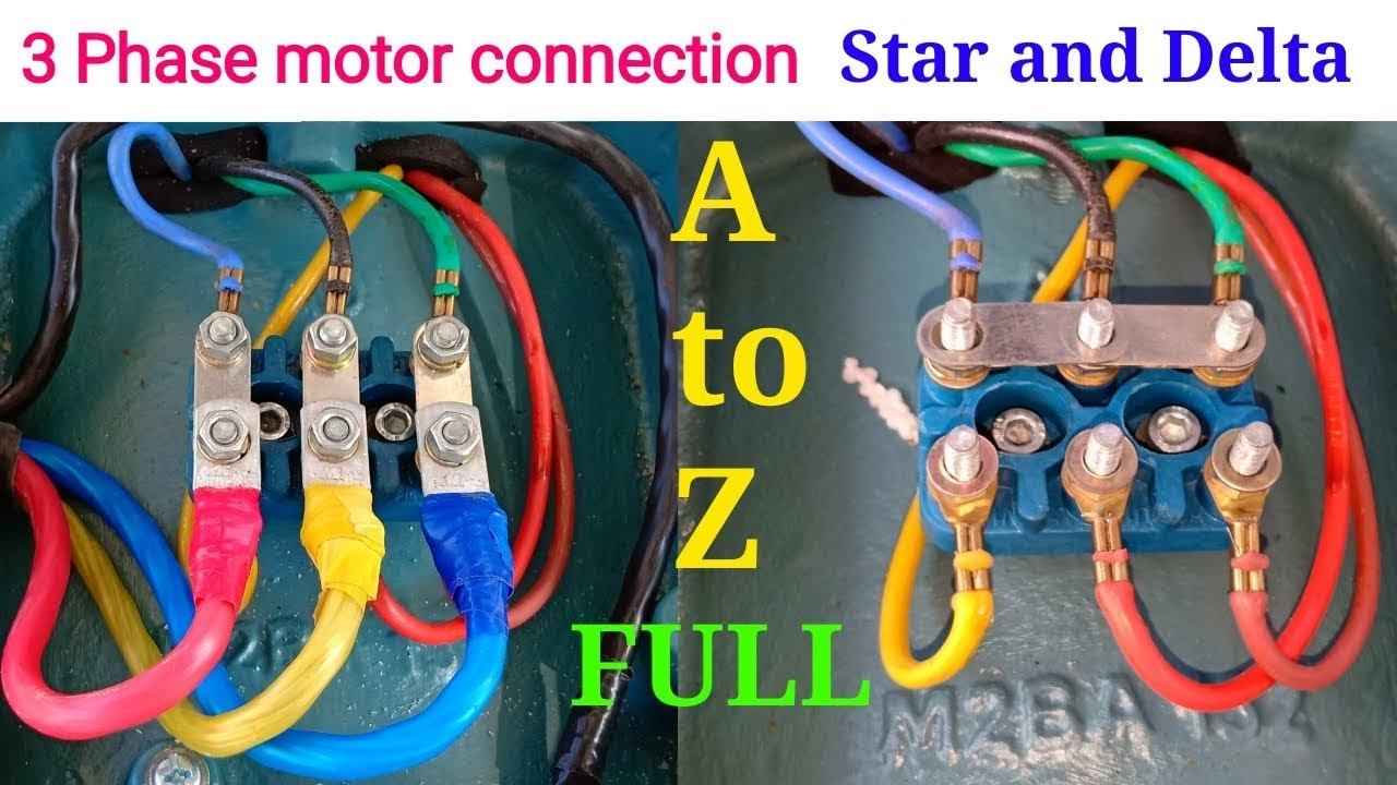 How to proper connection 3 phase motor ।। 3 phase motor ...