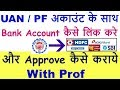 How to Approve KYC in Epf/PF | Link Bank KYC with PF/EPF/UAN Account in Hindi