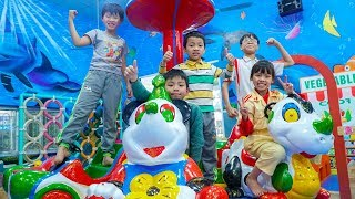 Fun Indoor Playground for Kids and Family at Play Area! Kids Learn Colors with Songs for Children