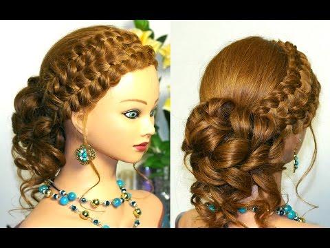 Фантазии причёсок детские причёски для девочек, мастер
