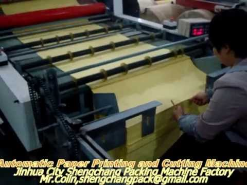 Papercraft automatic one color paper printing and cutting machine(one step)