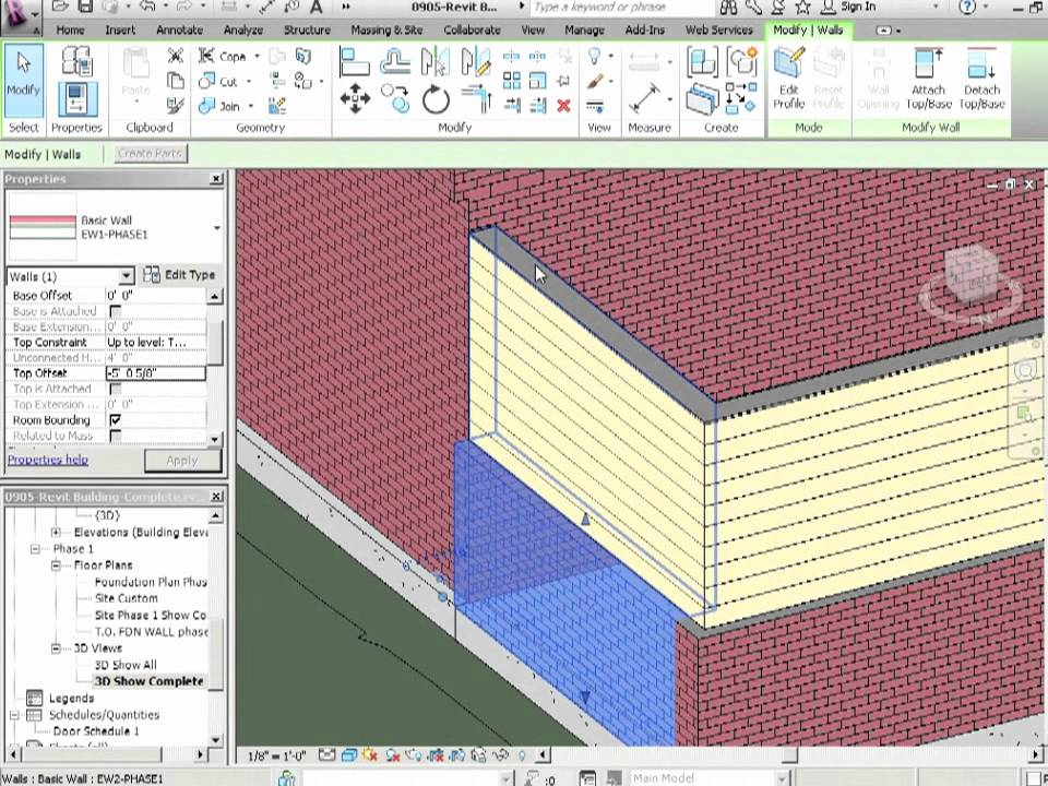 Advanced Revit Architecture 2012 Tutorial - Wall Joins