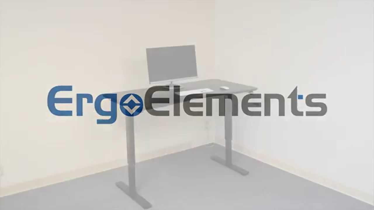 Hand Crank Standing Adjustable Height Desk Intro Video