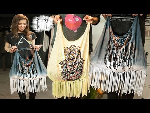 diy boho tasche aus t shirt kein n hen easy upcycling. Black Bedroom Furniture Sets. Home Design Ideas