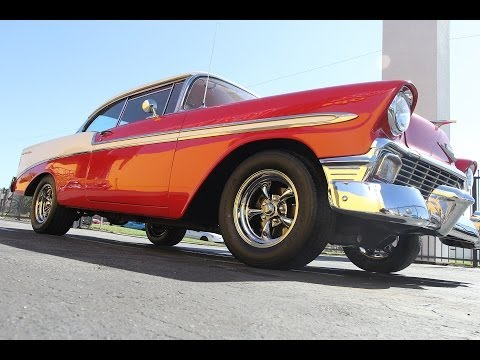 15x7 and 15x8 Staggered American Racing VN515 Torq Thrust II Wheels on a 1956 Chevrolet Bel Air